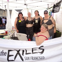 At the Exiles booth at the Folsom Street Fair, 2015